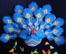 модульное оригами павлин