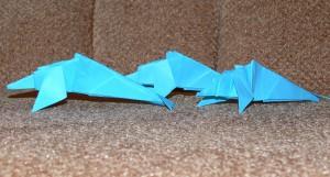 оригами  дельфин видео