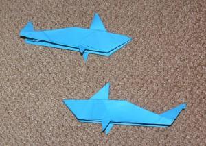 оригами акула видео
