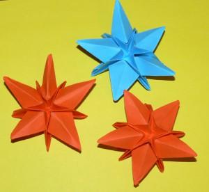 оригами цветы видео