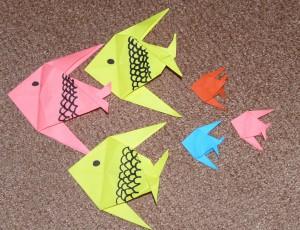 оригами рыбка видеоурок