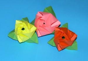 оригами цветы (видео)