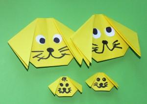 оригами для начинающих собачка