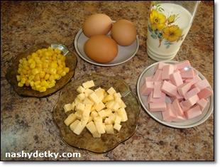 омлет с кукурузой