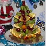 елка из фруктов