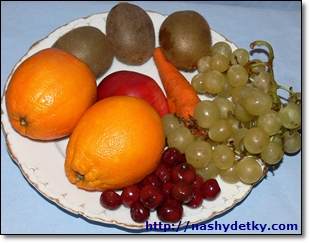 фрукты для елки