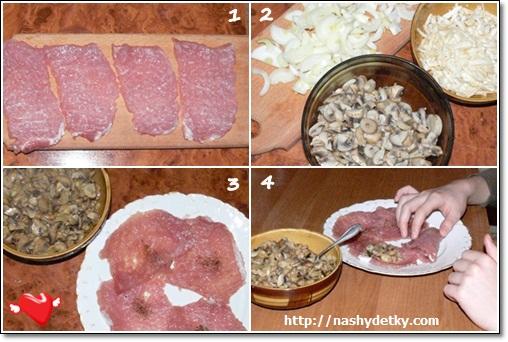 свинина с грибами
