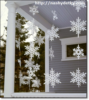 оформление снежинки
