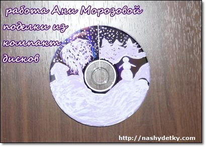 поделки из компакт дисков