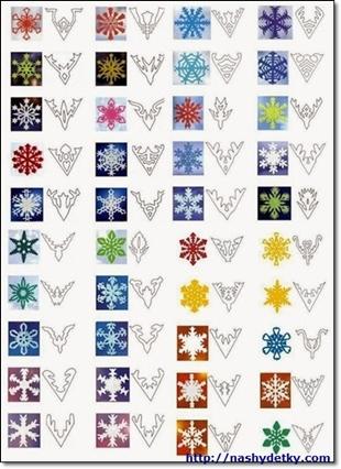 снежинки шаблоны