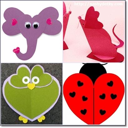 валентинки фигурки животных