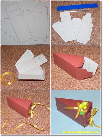 делаем упаковку для подарков
