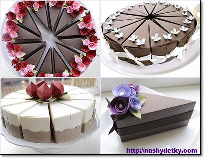 Упаковка подарка тортик