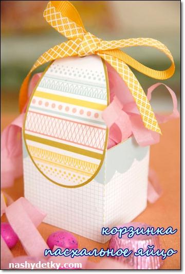 корзинка пасхальное яйцо