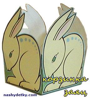 корзинка заяц