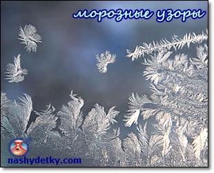 узоры на окнах зимой