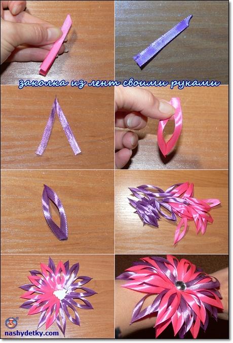 Как сделать резинки своими руками из атласных