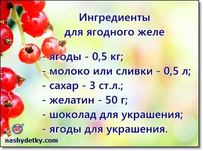 ингредиенты для ягодного желе