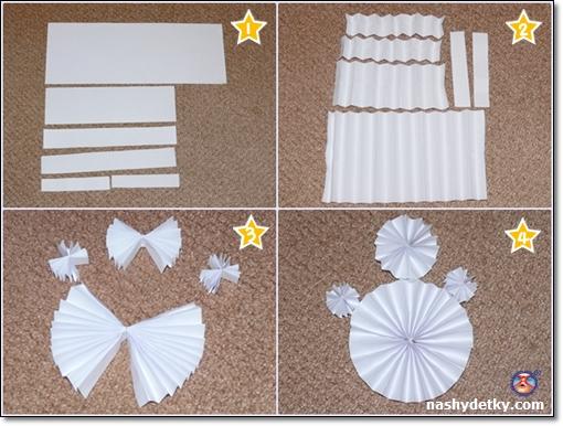 как сделать снеговика из бумаги