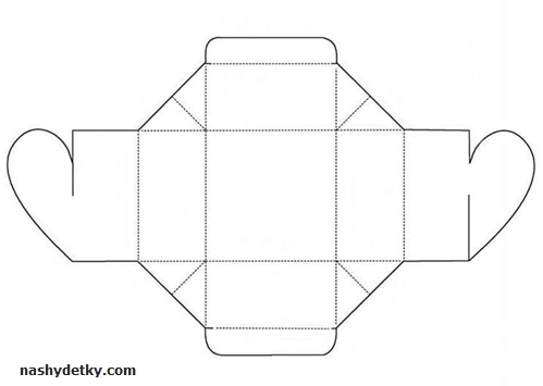 коробочка сердечко шаблон