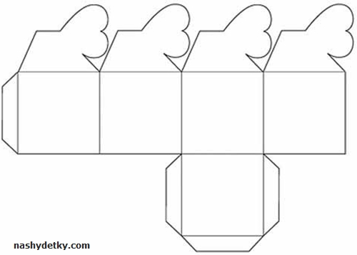 схема упаковочной коробочки