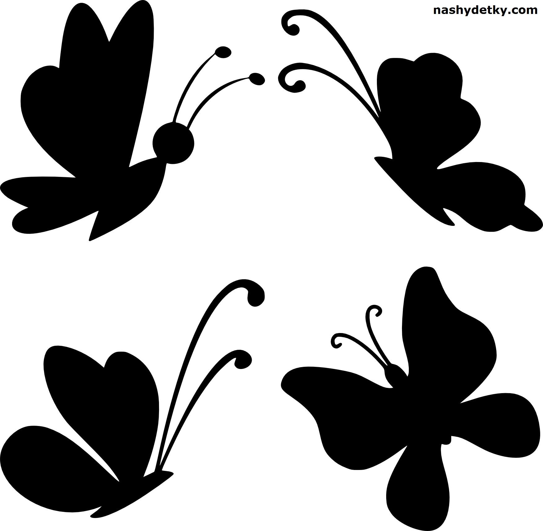 бабочки_трафарет