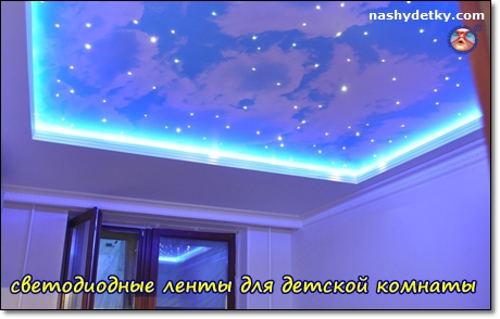 светодиодные лампы для осещения детской