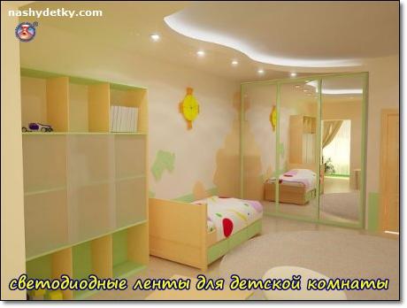 светодиодные ленты для освещения детской комнаты